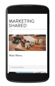 Marketing Shared has a responsive template. It's not the best, I admit, but the cobbler's kids often go without shoes...